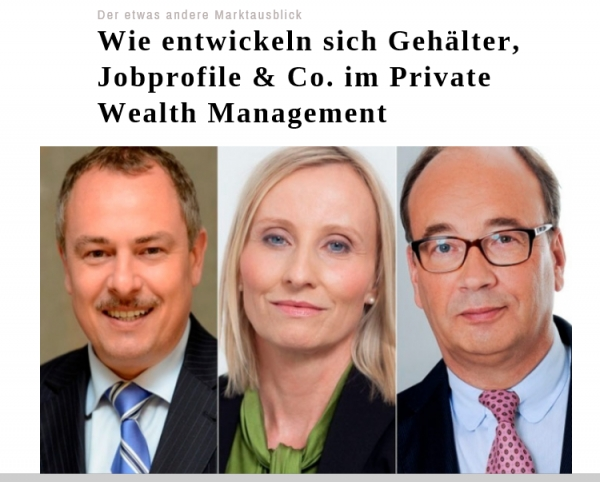 Titelbild der Interviews im private banking magazin